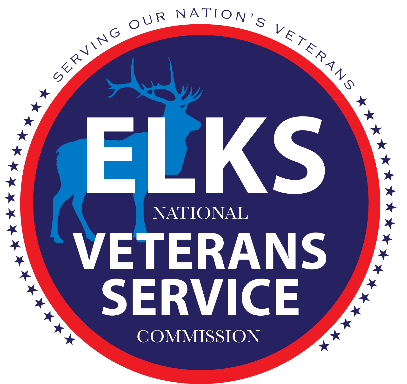 elks button blue