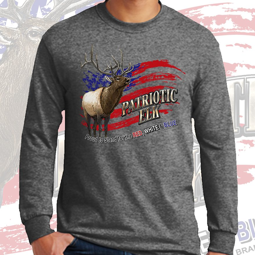 patriotic elk (Bull Version) GRAPHITE FRONT LS